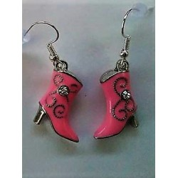 Boucles d'Oreille Botte Rose