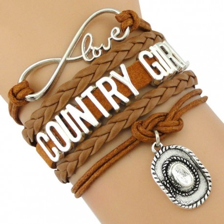 Bracelet Country Girl Marron