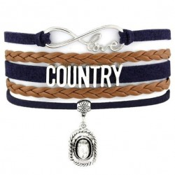 Bracelet Country Girl Noir Marron